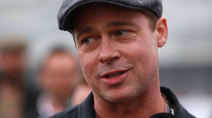 Brad Pitt al Motogp a Silverstone (foto PA)