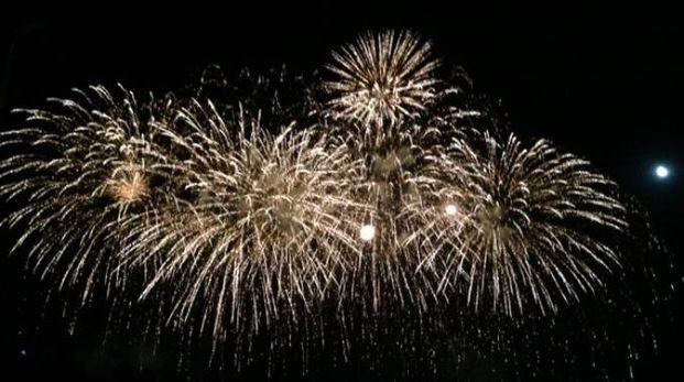 I fuochi d'artificio (Foto Cellini)