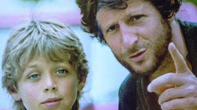 Valentino Rossi con il padre Graziano quando il Dottore era bambino