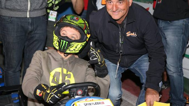 Valentino Rossi alla 'Spurtlèda58 2015' (Foto Marzio Biondi)