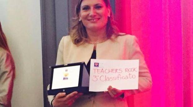 Diletta Papini in Campidoglio alla consegna del premio