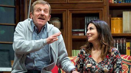 Sabrina Ferilli in scena al ventidio assieme a Maurizio Micheli