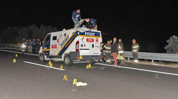 Il portavalori assaltato sull'A14