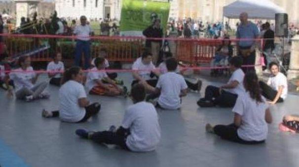 Esibizione di sitting volley