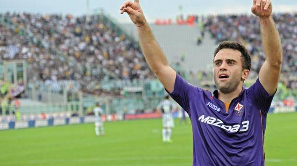 Pepito Rossi festeggia dopo il trionfo sulla Juve del 20 ottobre 2013