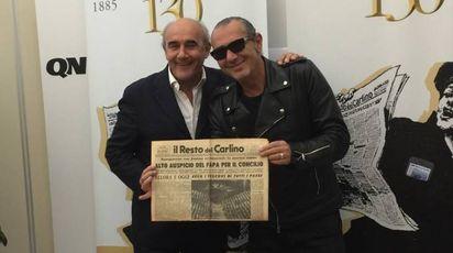 Beppe Boni, vice direttore del Carlino, e Luca Caboni