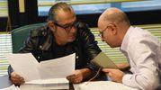 Luca Carboni e Massimo Cutò, vice direttore del Quotidiano Nazionale