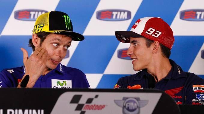 Valentino Rossi e Marc Marquez (Ansa)