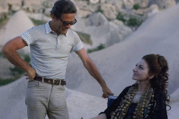 Con Maria Callas 46 anni fa (Ansa)