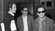 Con Jean Luc Godard e Bernardo Bertolucci (Ansa)