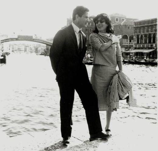 Con Anna Magnani a Venezia nel 1962 (Ansa)