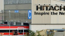 Hitachi Rail il giorno inaugurale : Le nuove insegne allo stabilimento ex Breda Luca Castellani/Fotocastellani