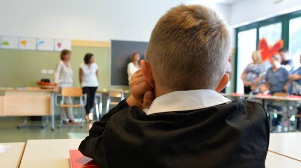 Un alunno delle scuole elementari (Newpress)