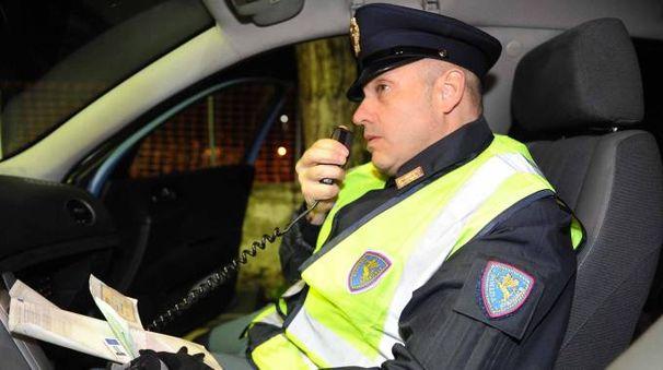 E' intervenuta la polizia stradale Modena Nord