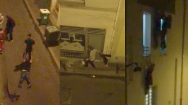 Il video della fuga dal Bataclan: amici trascinano feriti, gente appesa ai cornicioni