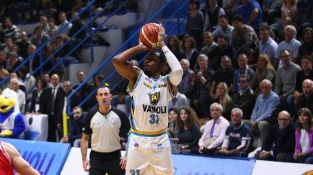 Cremona 07 novembre  2015 Basket Serie A Vanoli Cremona- Grissin Bon Reggio Emilia Nella foto: James Southerland foto F.Zovadelli/Ciamillo