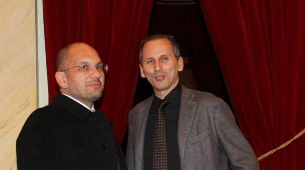 Guido Castelli con Luciano Messi