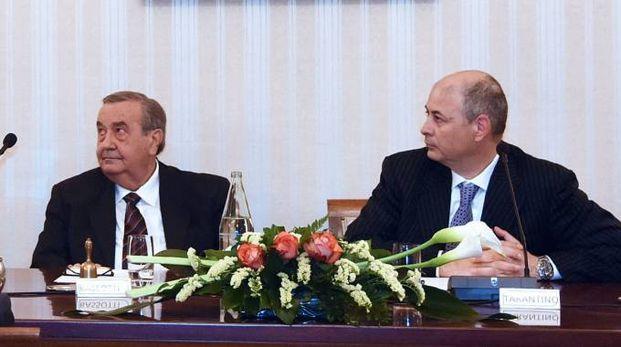 Da sinistra, il presidente della Fondazione Alfio Bassotti e Mauro Tarantino
