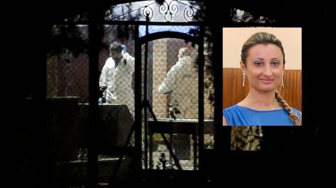 I rilievi nella casa del delitto e, nel riquadro, Raffaella Presta