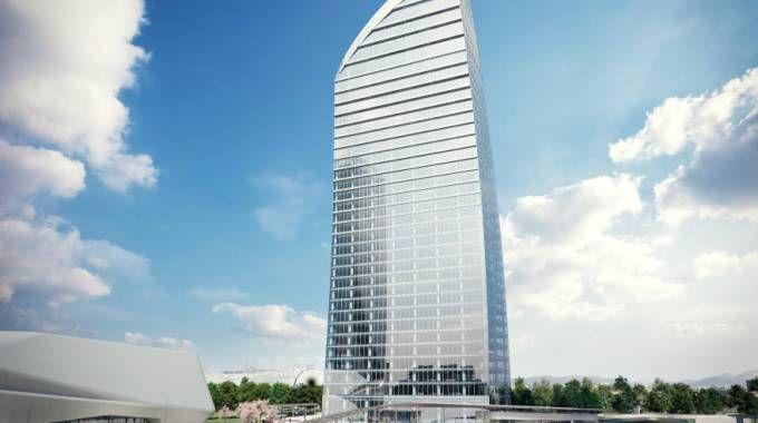 Il rendering della torre Libeskind (Newpress)