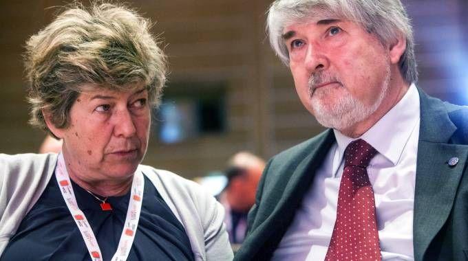 Il ministro del Lavoro Giuliano Poletti e il segretario della Cgil Susanna Camusso (Ansa)