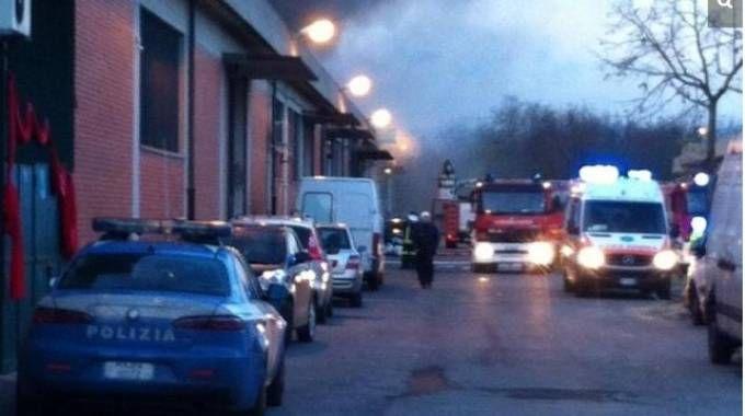 La prima foto in assoluto scattata all'incendio del Macrolotto il 1° dicembre 2013