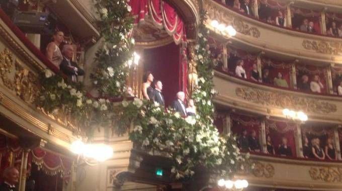 Prima della Scala, il palco reale (Twitter)