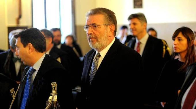 Filippo Penati durante l'ultima udienza del processo per tangenti