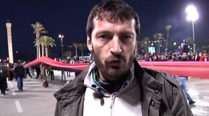 Giulio Lolli in un fotogramma del video pubblicato  sul nuovo sito internet
