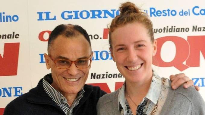 Magdi Cristiano Allam  a «Il Giorno» con Sara Riffeser Monti, vicepresidente di Speed
