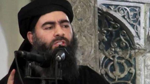 Il califfo nero Abu Bakr al Baghdadi (Ansa)