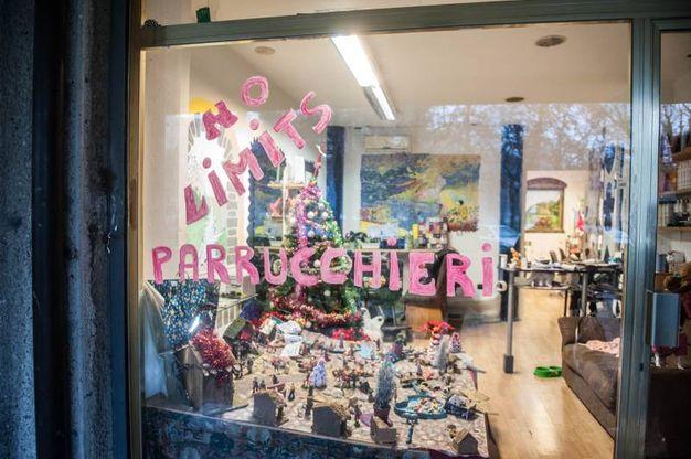 Danni a un negozio di parrucchiera (FotoSchicchi)