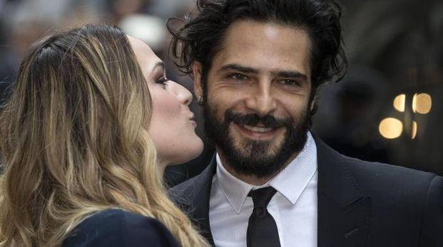 Laura Chiatti con il marito Marco Bocci  (Ansa)