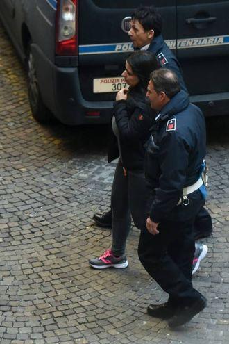 Martina Levato lascia il tribunale dopo la sentenza del processo