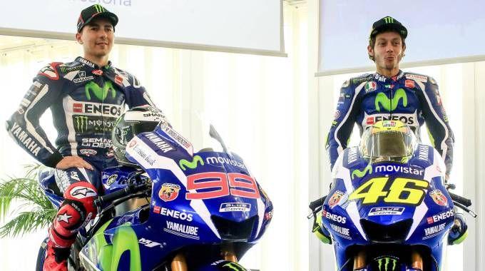 Jorge Lorenzo e Valentino Rossi (Olycom)