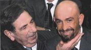 Romano Cenni con Marco Pantani (foto dell'archivio di famiglia)