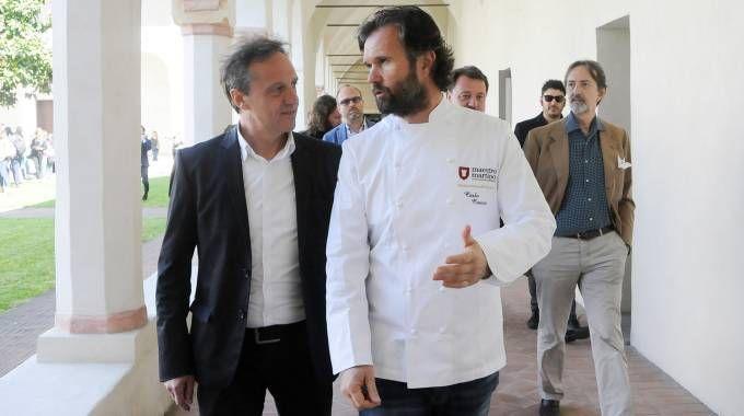 Lo chef Cracco e il sindaco Arrara
