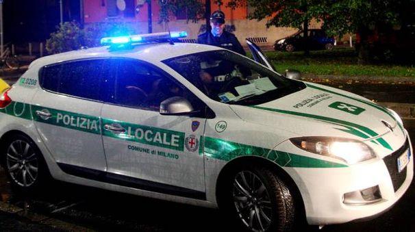 Polizia locale in campo