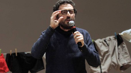 Lo scrittore Pietrangelo Buttafuoco in una foto d'archivio. MATTEO BAZZI / ANSA