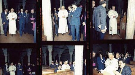 Immagini della visita di Giovanni Paolo II
