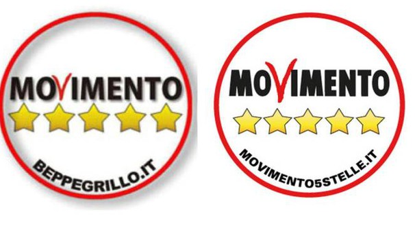 Beppe grillo sparisce dal logo svolta nei 5 stelle for Movimento 5 stelle parlamento oggi