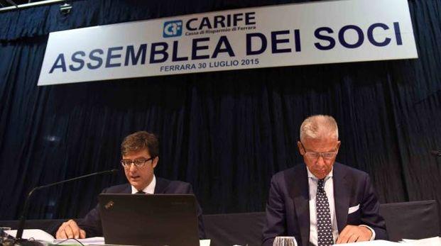 Antonio Blandini e Giovanni Capitanio, commissario liquidatore e amministratore delegato di Nuova Carife