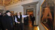 Con Sgarbi a Palazzo Fava (FotoSchicchi)