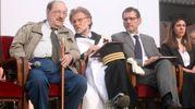 Con l'ex rettore Dionigi e il sindaco Merola (FotoSchicchi)