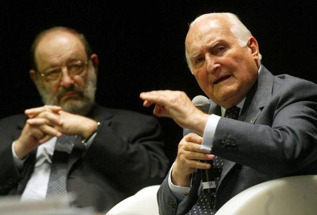 Con Oscar Luigi Scalfaro (Ansa)