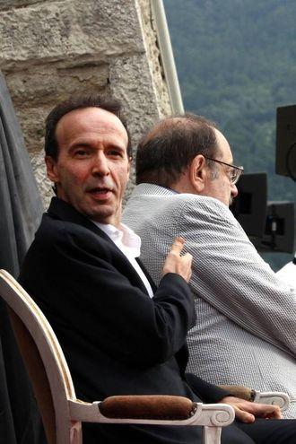 Con Roberto Benigni