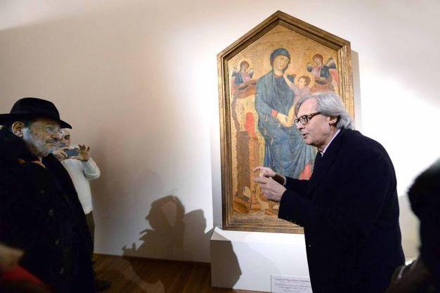 Con Vittorio Sgarbi (Serra)