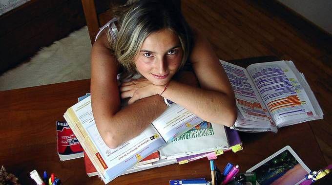 Una studentessa delle superiori (Ansa)