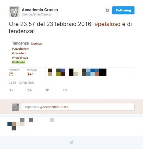L'Accademia esulta sul proprio profilo Twitter