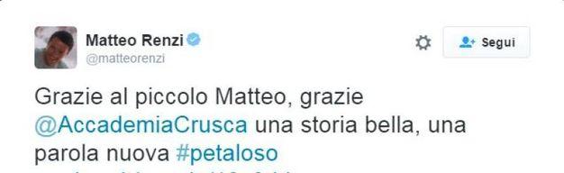 I complimenti di Matteo Renzi al piccolo studente ferrarese